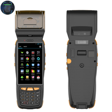 Portable PDA Handheld Terminal with 58mm printer 1D 2D Laser Barcode Scanner Android 5.1 4G lte Wifi Rugged Smartphone NFC PASM