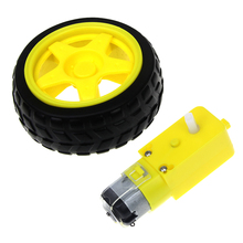 Free Shiping Deceleration DC Motor + Supporting Wheels A Smart Car Chassis , Motor Robot Car Wheels Rc Car Remote Control Car