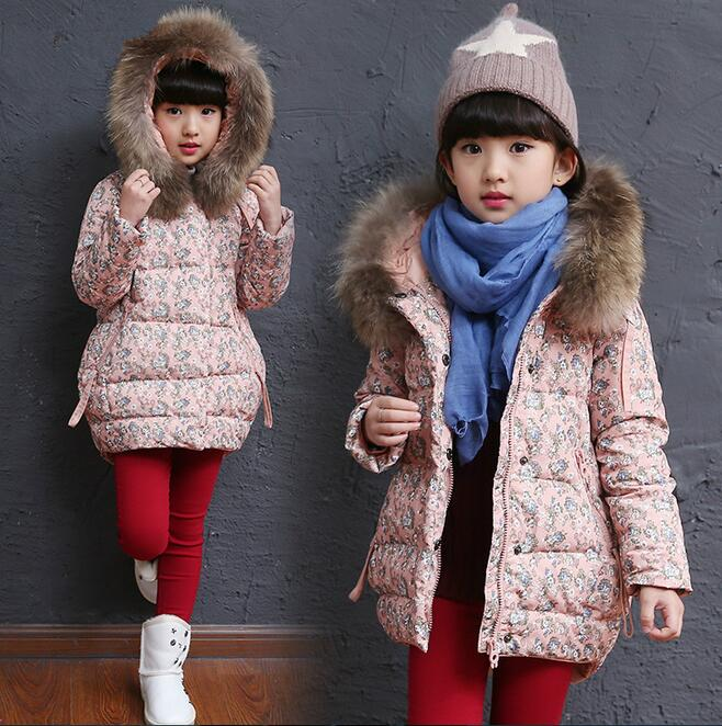 winter style jacket for girls design cotton girls winter jacket flower pattern girls winter outwear  TMY39<br><br>Aliexpress