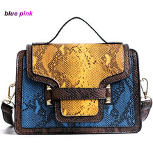 women bag Snakeskin Shoulder Crossbody Bags Designer Handbags High Quality PU Leather Ladies Clutch purse Women Messenger Bags(China)