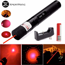 XpertMatic 532nm 50mw 303 Red Laser Pointer Lazer Pen High Power Beam 18650 Battery Charger Pencil Toy