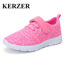 Hot 2017 New Arrival Boy Sneakers Lightweight Kids Athletic Shoes Breathable Kids Trainers Brand Pink Blue Children Sneakers