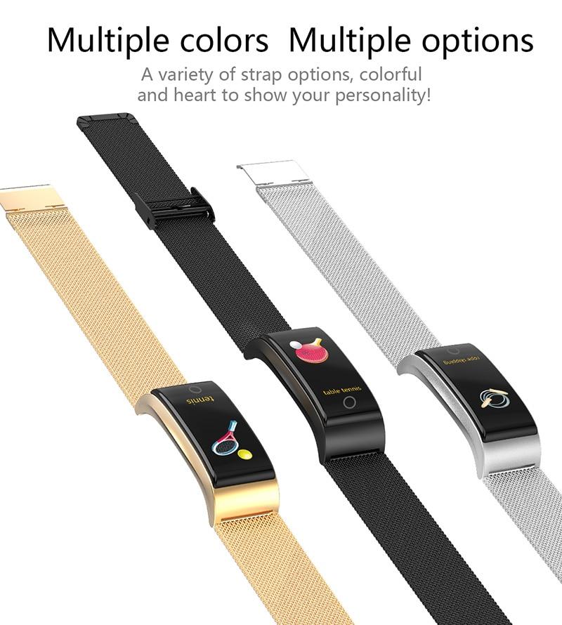 VERYFiTEK F4 Metal Smart Band Wristband Blood Pressure Heart Rate Monitor Men Women Fitness Watch Pedometer Smart Bracelet (8)