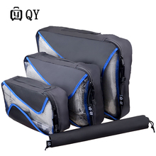 Duffle Bag 4 Pcs/Set Unisex Nylon Packing Cubes Clothes Lightweight Luggage Shirts Waterproof  Organizers Travel