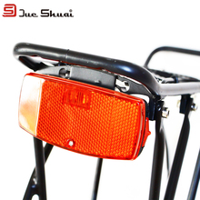 JS Leds Red Bicycle Rear Light Bike Rear Rack Light Lamp Battery Cycling Bicycle Accessories MTB Led Bike bisiklet aksesuar