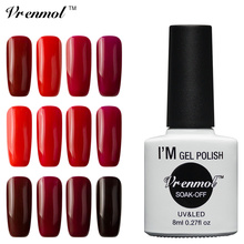 Vrenmol Soak Off Series Pure Color Gel Nail Manicure Esmaltes Vernis Semi Permanent UV LED Gel Nail Polish Gel Varnishes