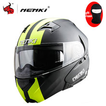 NENKI DOT Motorcycle Helmet Flip Up Helmet Open Face Men's Moto Helmet Capacetes De Motociclista Dirt Bike Helmet Casque Moto(China)
