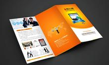 Customized Accordion Fold Brochure/Flyer Printing Advertising leaflets Colorful paper printing(China)