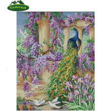 Animal 5d DIY Diamond Painting Mosaic Cross Stitch Crystal Embroidery Peacock And Flower Adornment Picture Beautiful Wall Decor