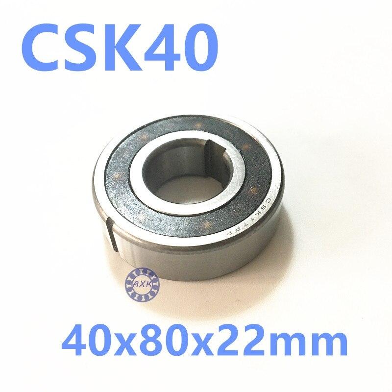 Free shipping 2pcs 6208 CSK40 CSK40PP BB40 one way clutch bearing 40x80x22 printer/Washing machine/printing machinery two groove<br>