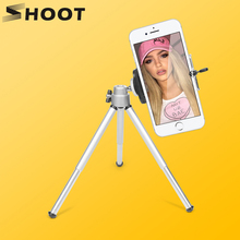 Portable Mini Tripod Stand For Gopro Xiaoyi 4K SJCAM Digital Camera Camcorder With Phone Holder For iPhone Samsung Huawei Xiaomi