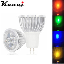 Dimmable GU10 GU5.3 MR16 E27 LED Spotlight 3W 4W 5W 85-265V Red/green/blue/Yellow light Lampada  Spot Candle Luz LED Bulbs
