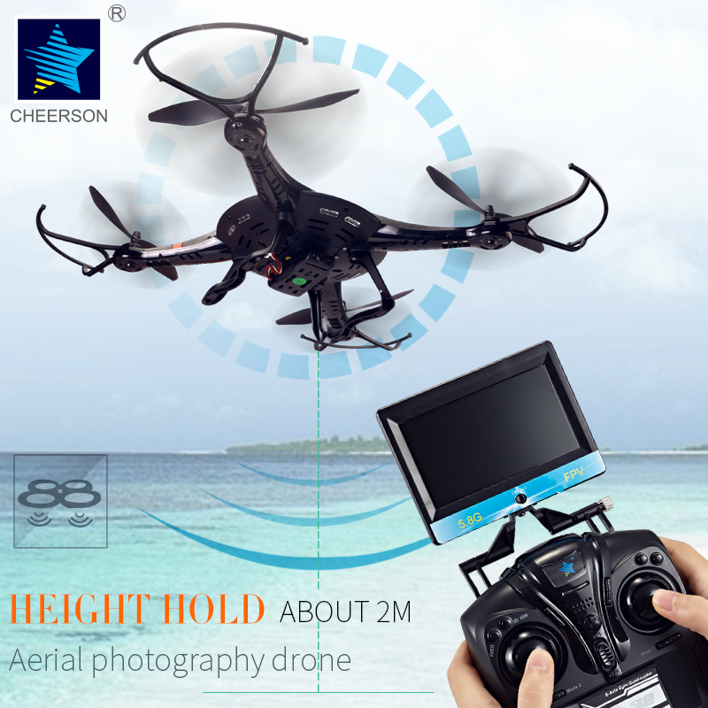 Cheerson CX-32W Drone 4CH 6-Axis Helicopter 2MP Camera LED Light Quadcopter WIFI FPV Real Time Transmision Hight Hold Aircraft(China)