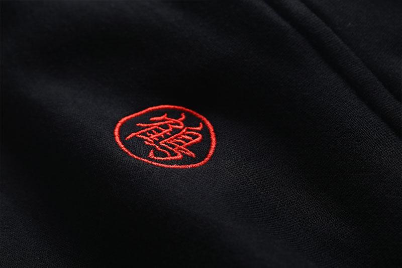 Embroidery Japanese Crane Hoodies 8