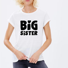 2017 Womens T-Shirt Big Sister Funny Harajuku Product Clothes for Women Alien Vintage  T Shirt Femme Tops