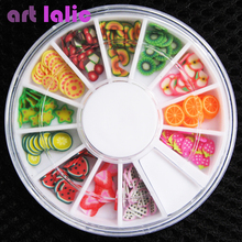 3D Polymer Clay Tiny Fimo Fruit slices Wheel Nail Art DIY Designs Wheel Nail Art Decorations Wholesale Artlalic