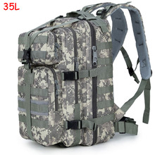 35L High Quality Waterproof Men Women 3P Military Backpack Large Capacity Trekking Backpack Mochila Escolar XJ470