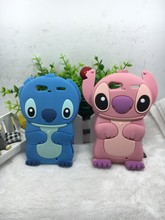 Cheapest 3D Lovely Kawaii Cartoon Stitch Soft Silicone Back Cover Phone Case For Motorola Droid Razr XT910 XT912(China)