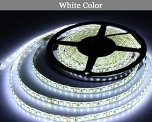 LED strip belt 2835 white DC12V 5M 60led=1 meters 300led=5 meters=1roll 3led=1 scissor Flexible Glue waterproof IP65 2835 SMD