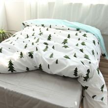 100 Cotton Tree Duvet Cover Fabric Colourful Single Twin double Queen King Size Modern Simple Kids Comforter Cover White(China)