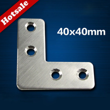 DHL free shipping stainless steel l shaped brackets for mounting for wholesale price 200pcs/lot metal angle(China)