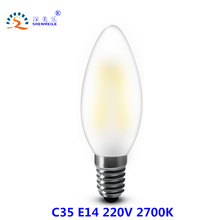 Buy RXR B10 LED candle bulb 220V E14 6w C35 Bullet Tip Frosted Dimmable LED Filament Candle bulb Ampoule LED Light bulbs lamp for $3.39 in AliExpress store