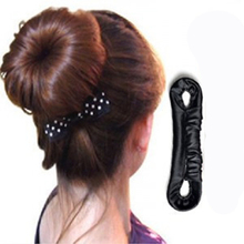 1PCS Solid Black Sponge Hair Donut Girl Hair Accessories Device Headband For Hair Bun Hairstyle Hairpins DIY Styling Tools