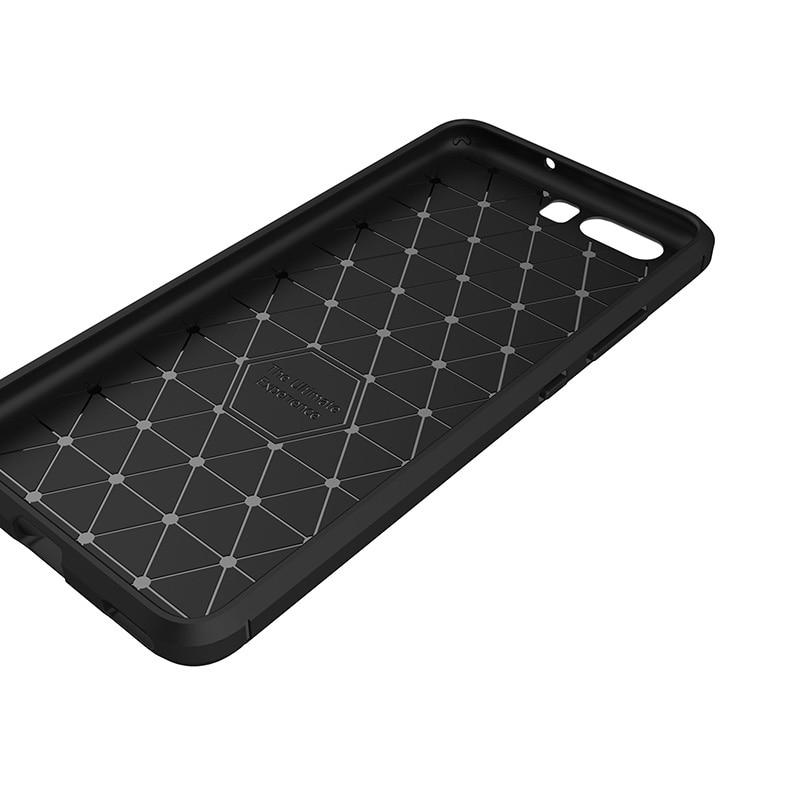 carbon fiber brushed silicone case huawei P10 Plus (4)