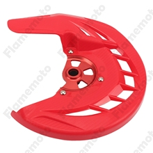 Motorcycle Bike Parts Red Front Brake Disc Guard Protector Cover For Honda CRF 250R 450R 250X 2004 2005 2006-2013 2014 2015