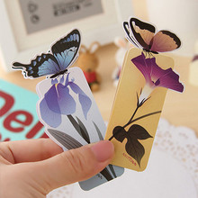 5 Pcs/lot Bookmarks Butterfly Style Teacher's Gifts Realistic Cute Kawaii 3d Book Marker Office School Stationery Supplies Items