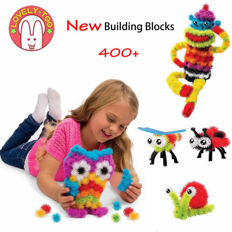 Lovely Too 400+pcs Magic Puffer Ball Stuffed Building Blocks Model Kits Magnetic Blocks Educational Toys For Children Kids Toy(China (Mainland))