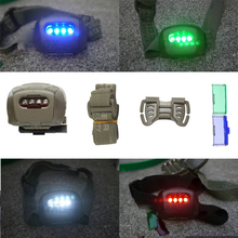 Military Tactical Headlight Headlamp Green Blue Red LED Head Torch Lantern Lamp Light AAA for Hiking Camping Fishing Hunting