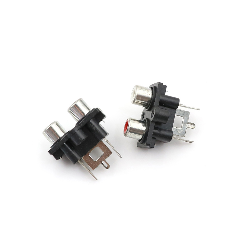 5Pcs 2 hole RCA Female Stereo audio Jack AV Audio input socket Connector Amplifier Interface Signal connection Wholesale