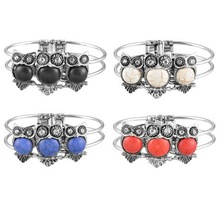 MJARTORIA Fashion Retro Bangle Imitation Thailand Silver Charm Bracelets & Bangles For Women Female Girl Vinatge Jewelry