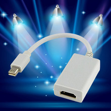Hot Selling White Mini Display Port Adapter DP to HDMI For Mac Air Pro HDTV AUDIO High Quality Wholesale