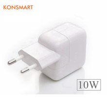 KONSMART Original 10W USB Power Adapter Euro Travel Charger for iPhone 5s 6 6s 7 Plus iPad mini Air Samsung Mobile Phone Tablet
