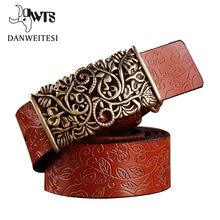 [DWTS] 2017 New ceinture femme belt hand real leather woven strap needle buckle casual style luxury female casual women belts(China)