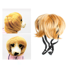 Pet hat Dog Cute Costumes Wavy Syethetic Hair Cat Wigs-gift Supplies Party Style