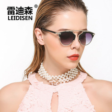 LEIDISEN Ladies Sunglasses, trend sunglasses, face correction glasses 933(China)