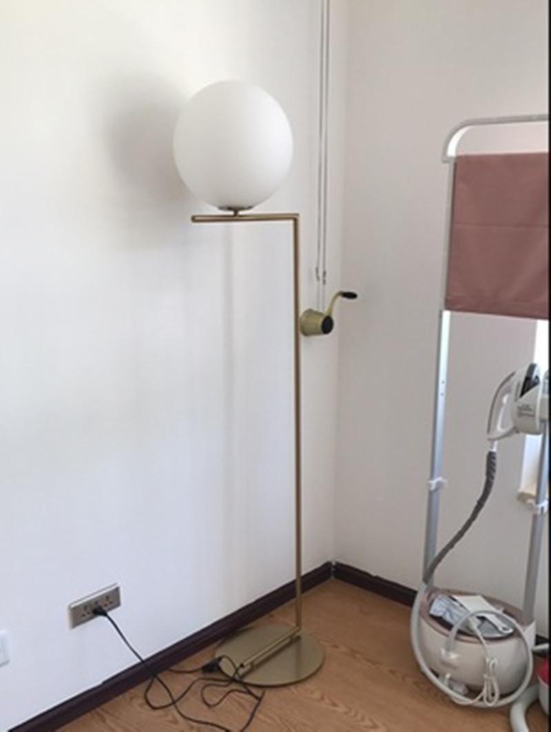 Modern LED Floor Lamp Floor Light Shade Glass Ball Standing Lamp for Bedroom Living Room Gold Designs (23)
