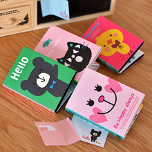 Cute Cartoon Animal Cat Bear Memo Pad Sticky Note Kawaii Paper Sticker for kids Korean Stationery Free shipping