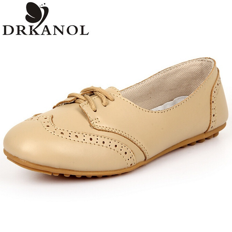 Shoes Woman 2017 British Style Vintage Oxford Shoes For Women High Quality PU Leather Flats Spring Round Toe Flat Shoes<br><br>Aliexpress