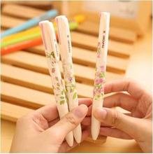 Lovely Floral Natural Words Style 4-in-1 Ballpoint Pens Office School Stationery Ball-point Pen Supplier Online 6pcs/lot Arc57