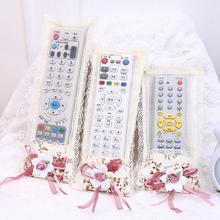 3 pcs/pack (S M L) Lace Flower Cloth Art Remote Control Cover Tv Air Conditioning Remote Control Dust Cover Storage Bag(China)