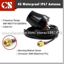 Free shipping New 4G LTE antenna Wireless 4G router HUAWE B593 B970 network card antenna 3m cable SMA Male(inner pin)