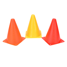 "New 6Pcs 7"" Football Marker Cones Course Football Cones Soccer Sports Field Drill Markers Wholesale Red,Yellow,Orange"