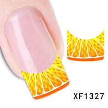 2017 New Arrival Promotion Nails Manicure 2 Sheets Watermark Nail Stickers Flowers Row Of Pens Manufacturers Xf1327