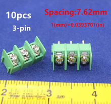 Free shipping 10pcs KF7.62-3P 20A 300V 7.62mm pitch connector pcb screw terminal block connector 3pin