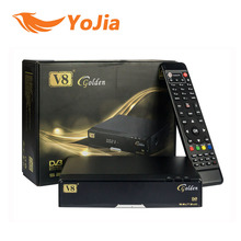 5pcs [Genuine] V8 Golden DVB-S2 + DVB-T2 + DVB-C Satellite TV Combo Receiver Support PowerVu Biss Key Cccamd Newcamd  USB Wifi