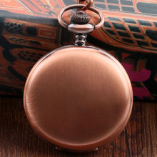 New Arrival Sample Rose Golden Bronze Pocket Watch Concise Fob Watch With Chain Free Postage Gift(China)